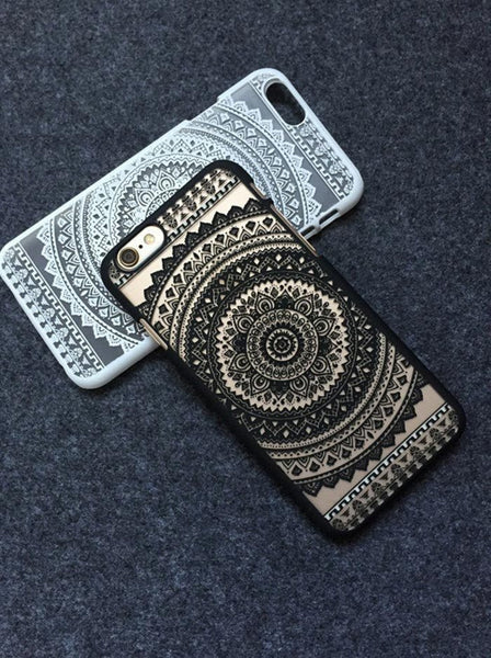 Black Henna Aztec Phone Case