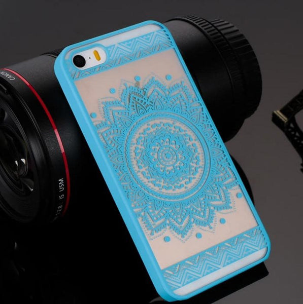 Blue Henna Floral Phone Case