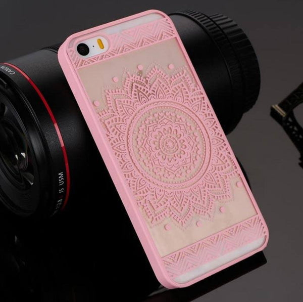 Pink Henna Floral Phone Case