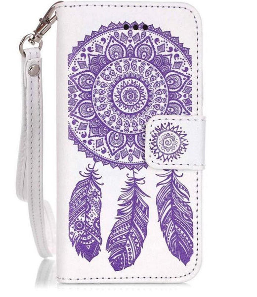iPhone 5/5S, 6/6S, 6S Plus Leather Mandala Wallet Case with Card Holder