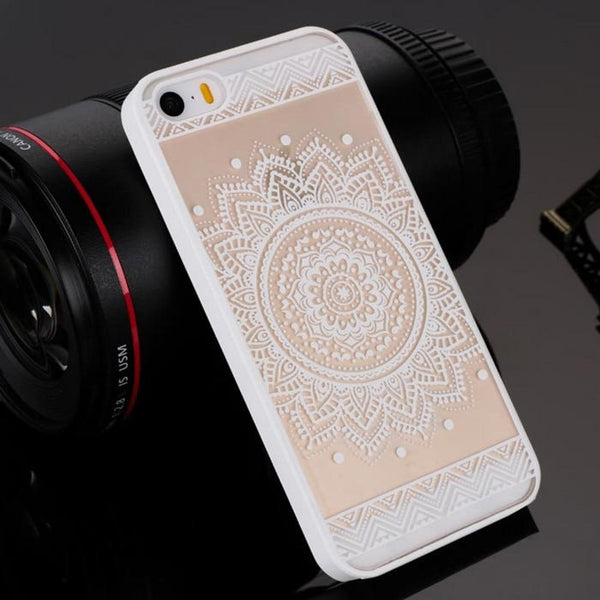 White Henna Floral Phone Case