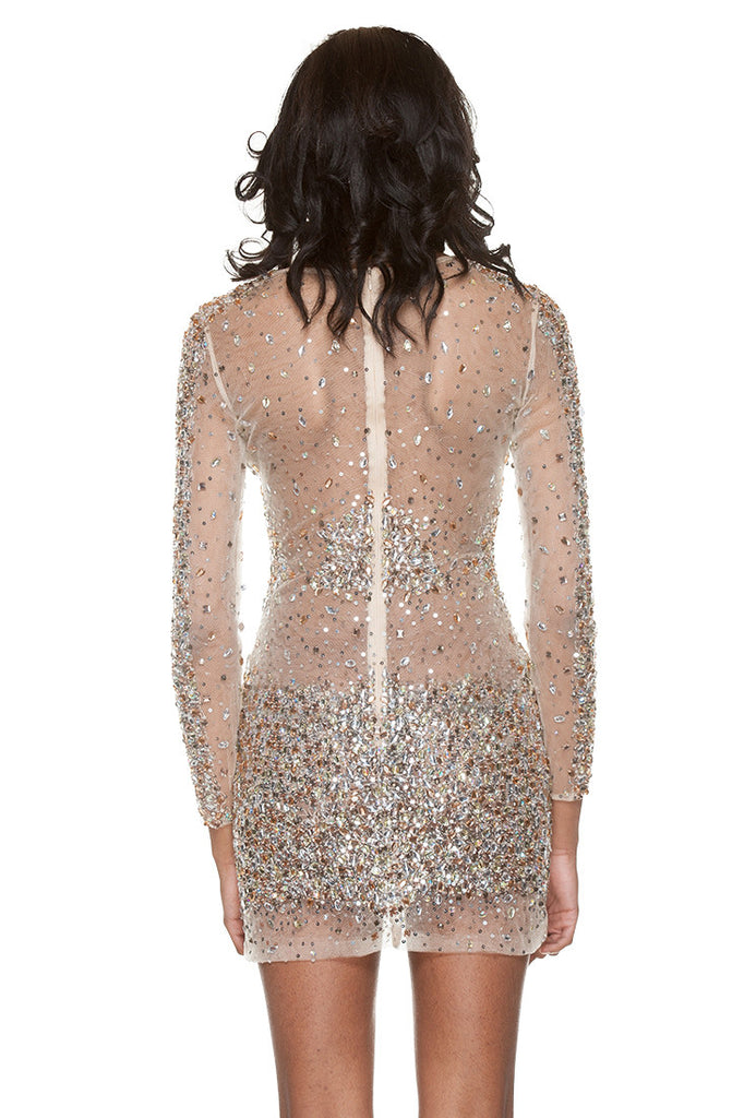 Nude Crystal Dress