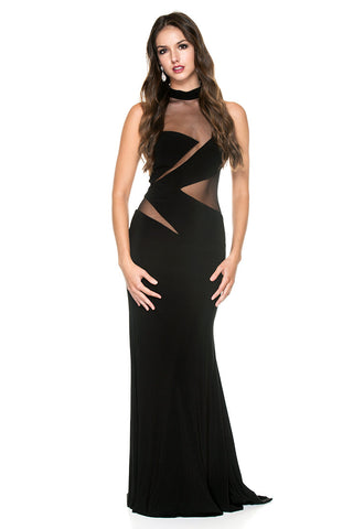 Crewneck Curves Gown
