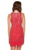 Red Loopy Tank Dress