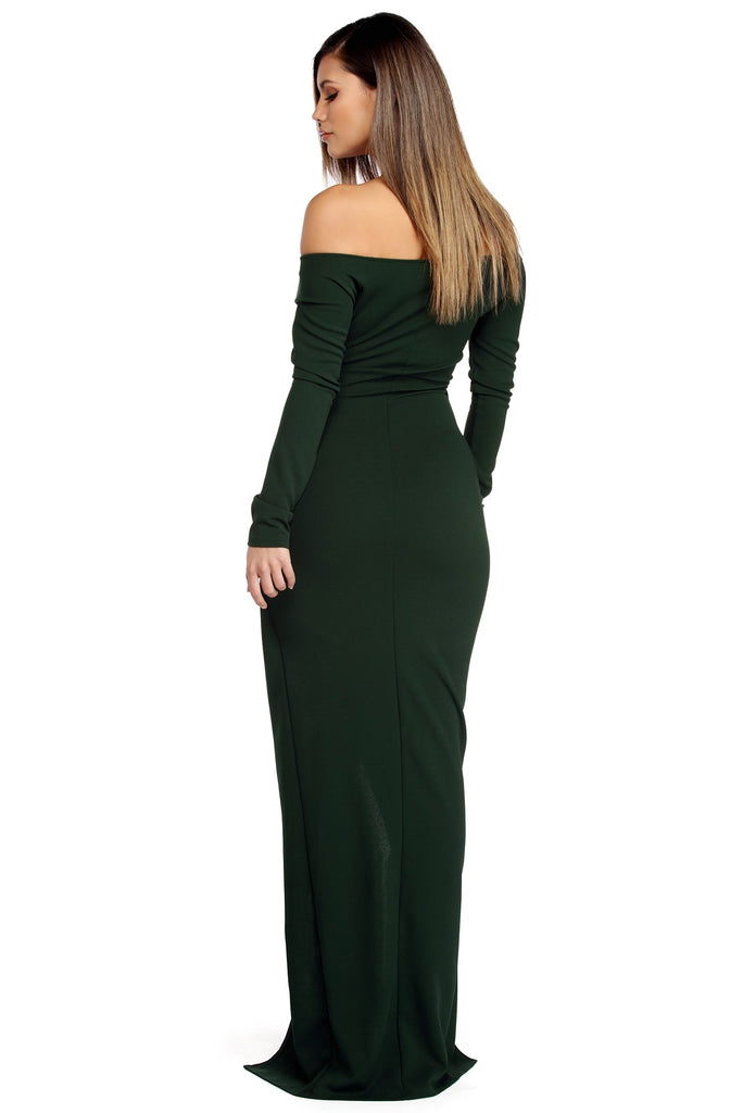 Hunter Green Wrap Gown