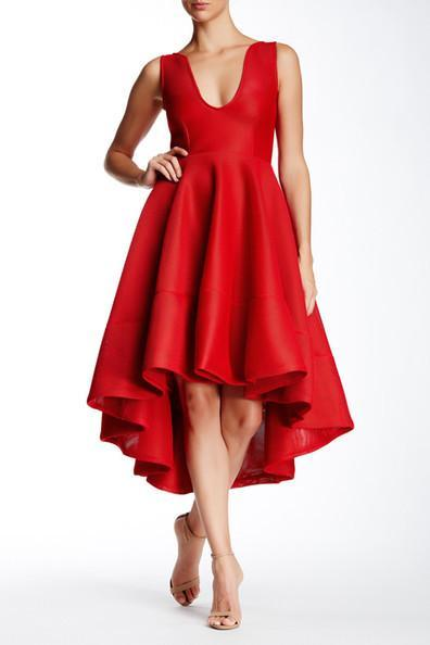 Red Honeycomb Dress