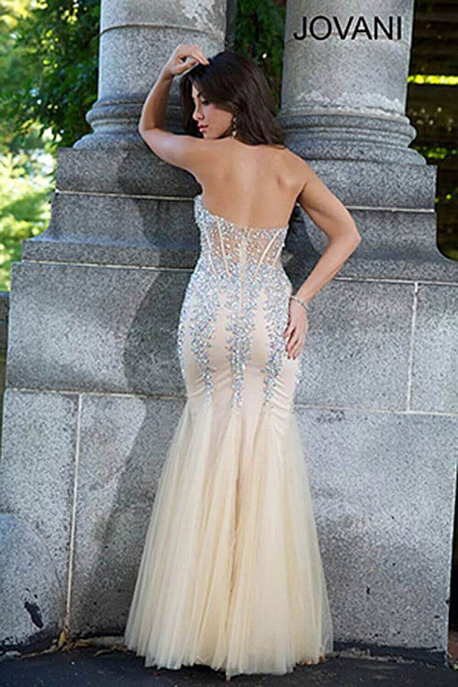 Nude Mermaid Gown