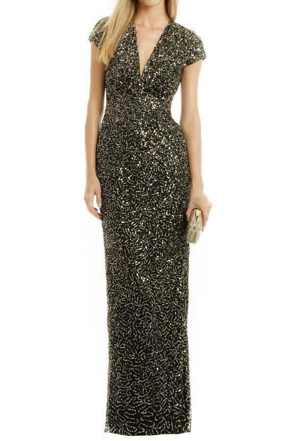 Midnight Sequin Stars Gown | Frock Shop Chicago – The Frock Shop