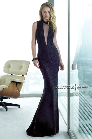 Deep Plum Wrap Gown