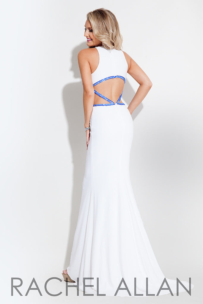White Jersey Cut Out Gown | Frock Shop Chicago – The Frock Shop