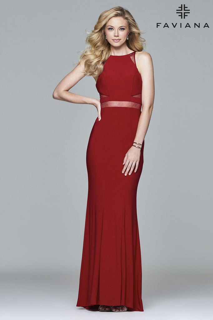 Red Mesh Gown