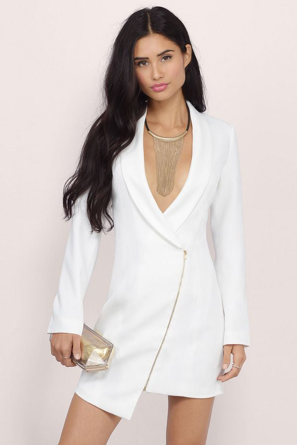 Miss Bossy Tuxedo Dress