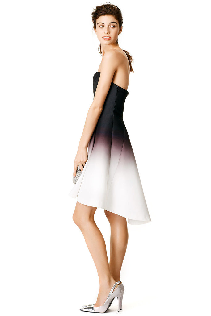 Ombre White Faille Dress