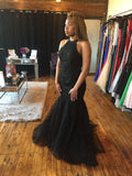 Black Mermaid Gown
