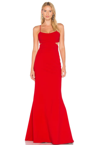 Ava Red Cutout Gown