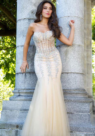 Sheer Gold Gown
