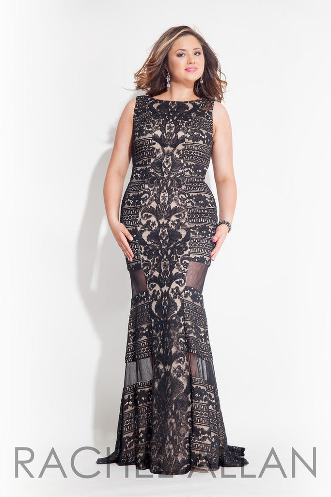 Peek-a-Boo Lace Gown