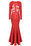 Red Bandage Mermaid Gown
