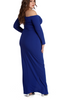 Royal Blue Wrap Gown
