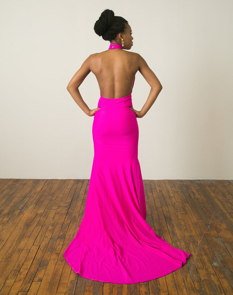 Pop of Pink Gown