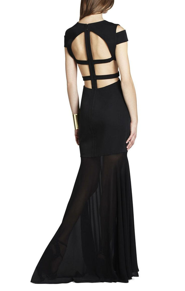 Ava Black Cutout Gown