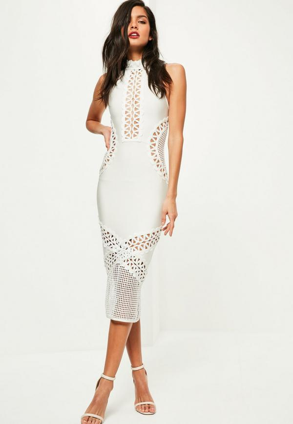 White Bandage Midi Dress