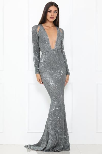 Salma Gown Silver