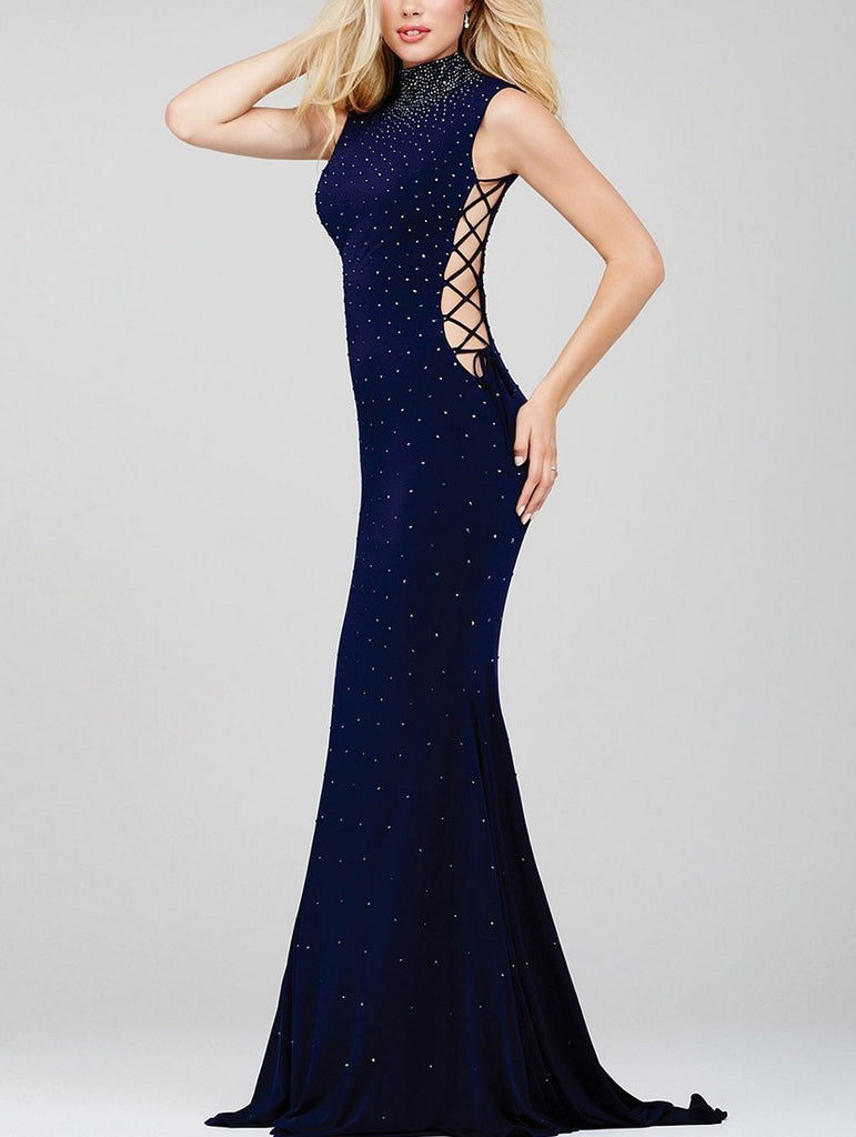 Navy Studded Gown
