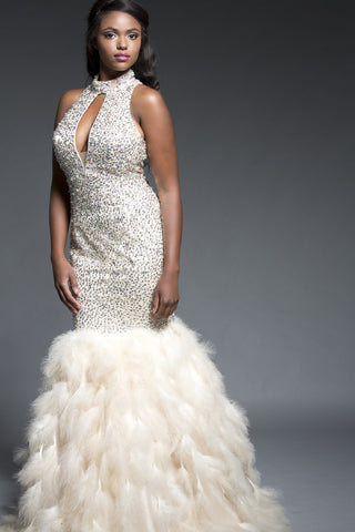 Crystal Waterfalls Gown