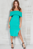 Jade Green Bandeau Dress