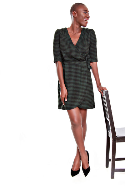 FRNCH V-Neck Wrap Dress