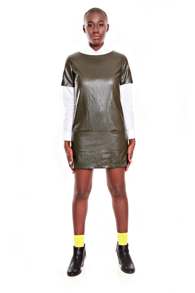 FRNCH Vegan Leather Dress