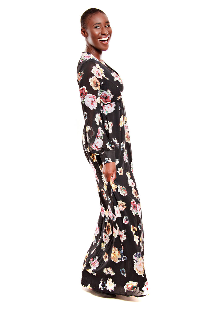 Oh My Love She Loves Floral Maxi Dress Royaltique