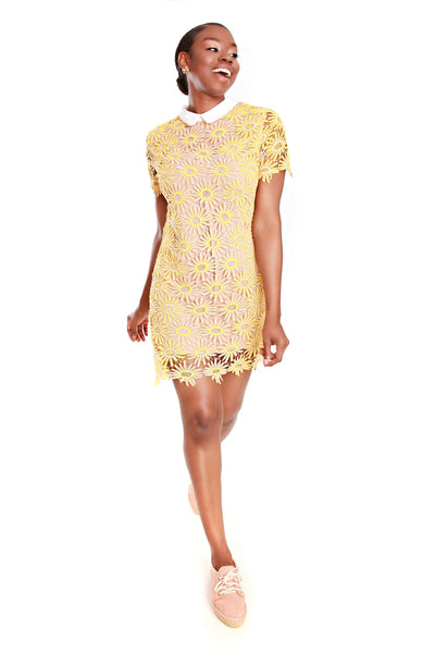 English Factory White Collar Lace Dress