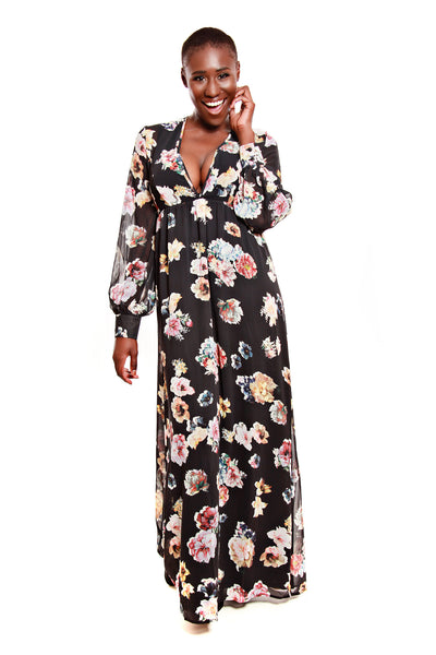 Oh My Love She Loves Floral Maxi Dress