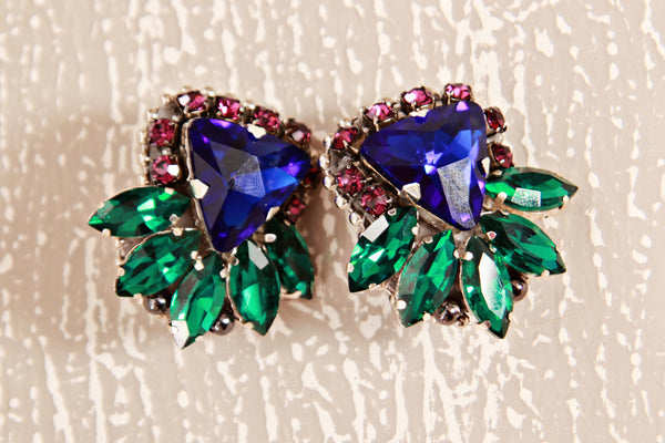 ELA DESIGN STUDIO Julz Violet Clip On Earrings
