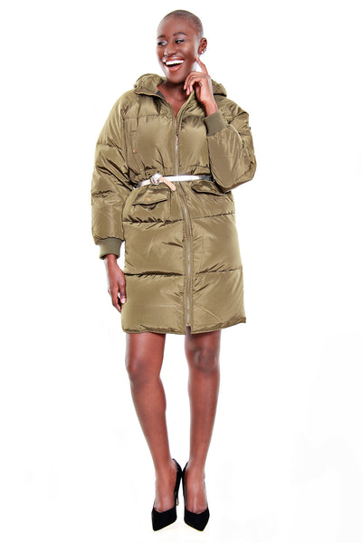FRNCH Long Puffer Jacket