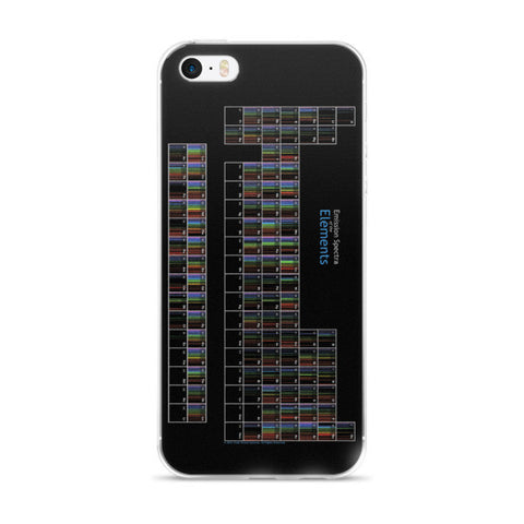 iPhone cover with periodic table of spectra