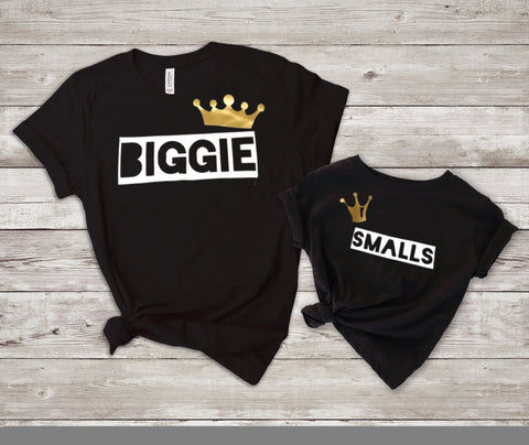 Biggie Smalls Mommy and Me / Daddy and Me Adult Child T-shirt Set