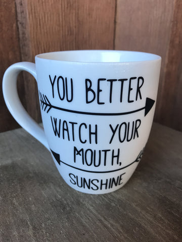 Dixon Sunshine Quote Mug / Clear Tumbler (Lidded)