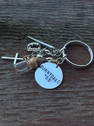 Buffy Slayer Keychain, Necklace, and Charm Bracelet