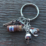 Carl Grimes Inspired Keychain and Charm Bracelet