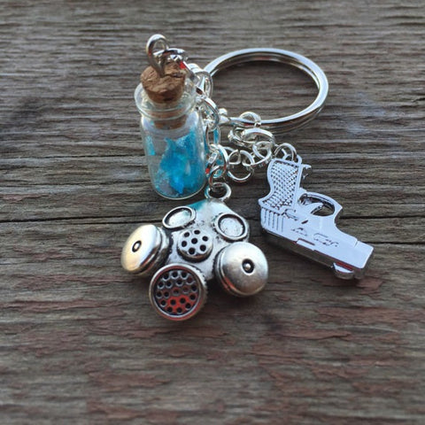 Breaking Walt and Jesse Keychain, Necklace, and Bracelet