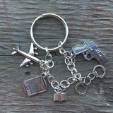BAU Criminal Minds Keychain and Custom Charm Bracelet