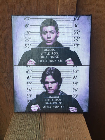 Winchester Mugshot 8x10 Canvas Wall Hanging