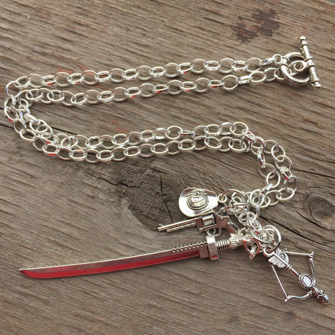 TWD Ricktatorship Necklace and Keychain