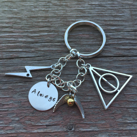 HP Potter Keychain, Necklace, Charm Bracelet