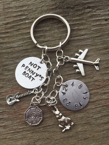 LOST Inspired Keychain and Custom Charm Bracelet