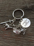 Thrones Keychain and Custom Charm Bracelet