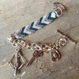 TWD Carl, Rick, and Daryl Customizable Charm Bracelet
